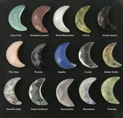 Half Moon Semi Precious Gemstone - 7x18mm Faceted Gemstones