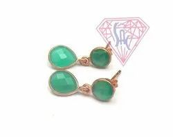 Semi Precious Gemstone Stud Earrings Set