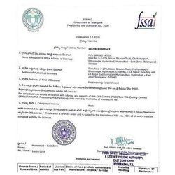 FSSAI Registration Service, Hyderabad,Sikandrabad