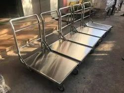 Stainless Steel Platform Trolley, For Material Handling