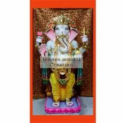 Standing Marble Ganesh Statues