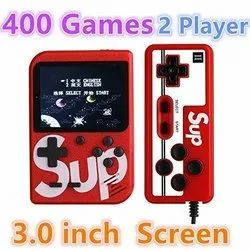 Red Plastic SUP X Game Console With Remote Controller 2 Player (Multi Color)