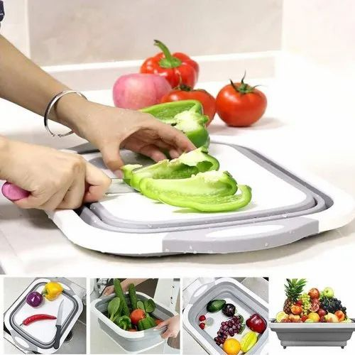 Good Plastic And Rabar White Portable Folding Meat Vegetable Cutting Pad Kitchen Rs 135 Piece Id 22683706033