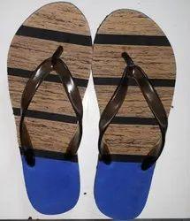 Ladies wooden Rubber Slipper