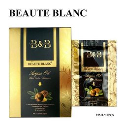 Beaute Blanc Paste Argan Oil Hair Color Shampoo, For Personal, Packaging Size: 25 Ml X 10 Pieces
