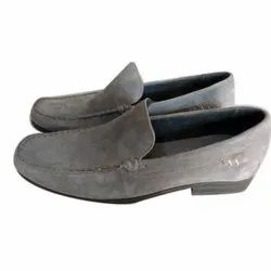 Flip Flop Formal Men Grey Leather Shoes, Size: 9