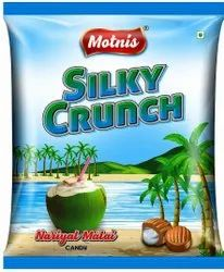 MOTNIS COCONUT SILKY CRUNCH CANDY, Packaging Size: 160 Pcs Per Packet