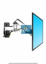 Cast Aluminium SILVER Ergonomic Monitor Wall Mount, Model Name/Number: SW-F150, Size: 17-27 Inch