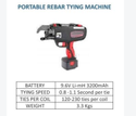 RT 40 A Portable Rebar Tying Machine