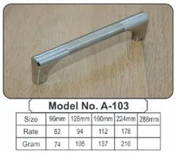 Silver Metal Handle, For Door Fitting, Finish Type: Stainless Steel