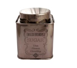 Indian Art Villa Steel Sugar Container, For Home, Capacity: 850 ML