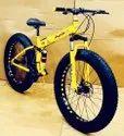 Yellow Audi Fat Foldable Cycle