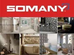 Vitrified Somany Tiles, Thickness: 5-10 mm