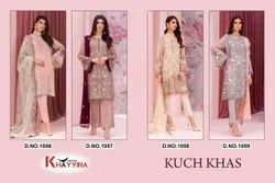 Semi-Stitched Georgette With Embroidery Pakistani Suit
