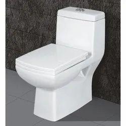 White Floor Mounted Sanitary Western Toilet