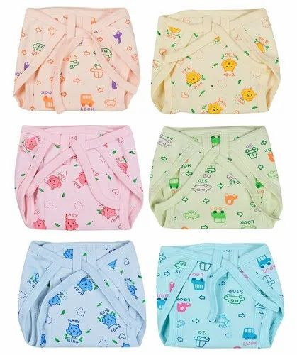 PEUBUD Cloth Diaper Cotton Hosiery Padded Nappies, Size: Small, Age Group: 3-6 Months