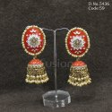 Traditional Meenakari Jhumka Earrings