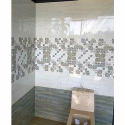 Gloss Bathroom Wall Tiles, Thickness: 10 mm