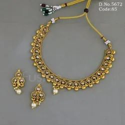 Designer Antique Polki Necklace Set