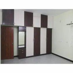Wooden Modern Brown Lockable Wardrobe
