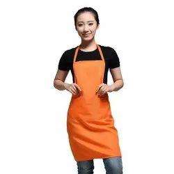 橙色普通厨房棉围裙,尺寸:自由尺寸