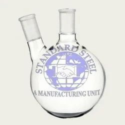 standard steel Glass Two Neck Round Bottom Flask, For Chemical Laboratory, Capacity: Various