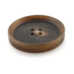 Brown Plastic 4 Hole Garment Horn Button, Packaging Type: Packet, Size/Dimension: 2 Inch