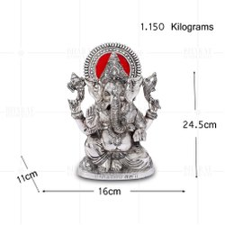 Silver Plated Ganesh Big