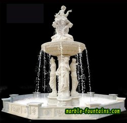 FRP White Glass Water Screen Fountain