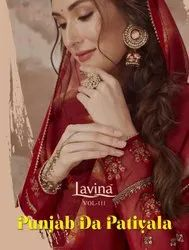Patiala Multicolor Lavina Patiyala Natural Crepe Prints With Embroidery, Dry clean