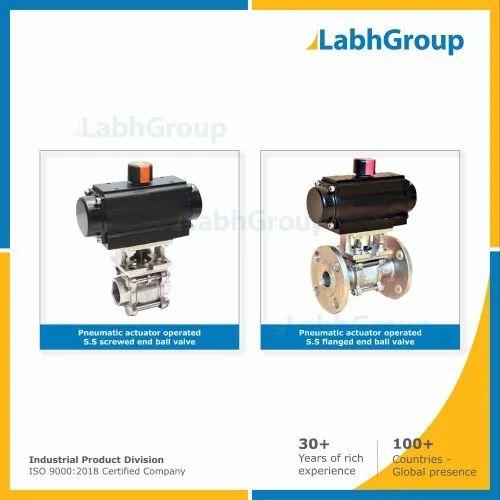 Pneumatic Actuator Operated Ball Valve