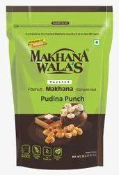 Makhanawalas Tangy Tasty Roasted Makhana (foxnuts) Gorgon Nut Lotus Seeds Pudina Punch 80 G