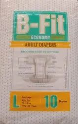 B-Fit Diapers Adult Diaper Economy (Large, 24-36 Inches, 10 Pcs) (Large)