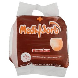 Mediabsorb Premium Pull Ups Adult Diaper, Size: Large