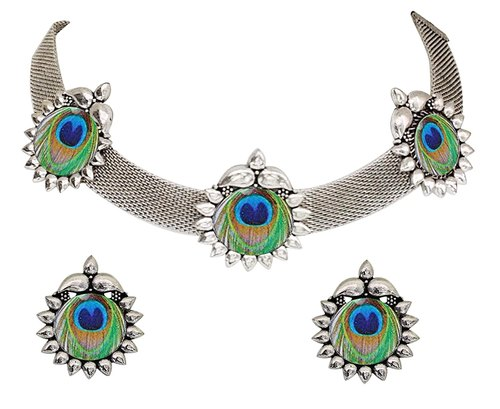 German Silver Oxidised Jewellery, Wedding, Rs 200 /set Kastiya Jewels | ID:  22756960812