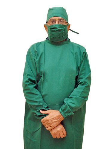 Surgical Cotton Gown With Cap And Mask