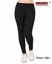fits fab Cotton+ Lycra Ladies Cotton Leggings, Size: Free Size