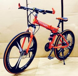 Orange Ferrari Foldable Cycle