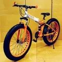 BMW Orange Fat Tyre Foldable Cycle
