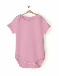 Bamboo Fabric Pink Baby Plain Romper