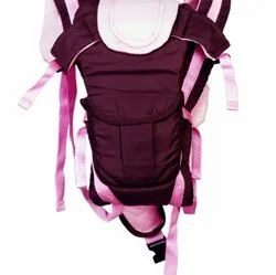 Soft Fabric Brown Pink Baby Carrier Bag