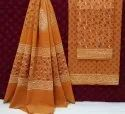 Natural Hand Block Printed Cotton Dress Material With Cotton Dupatta