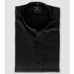 Boros Cotton Jet Black Half Sleeves Shirt, Size: Xs-xl