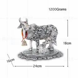 Silver Plated Cow And Calf Big Gods