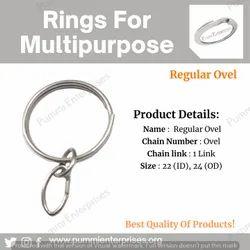 Round Keyring Chain