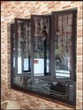 Brown Hinged Triple Casement Galvanized Steel Window, For Residential, Size/dimension: 4*4 Feet