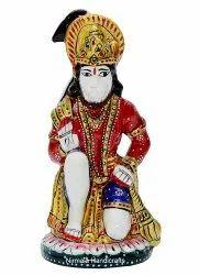Resin Hanuman Ji Statue Enamel Work Indian God Idol Figurine
