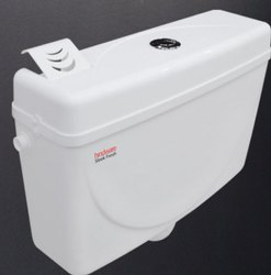 White Hindware PVC Sleek Fresh Dual Flush Cistern, For Toilet