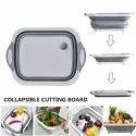 Folding Chopping Board Dish Sink Tub Vegetable Basket