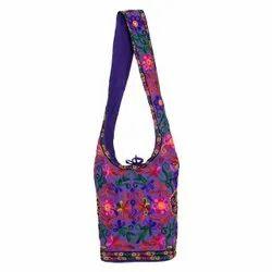 Fabric Blue New Design Handicraft Rajasthani Shoulder Bag  Size: 13*13